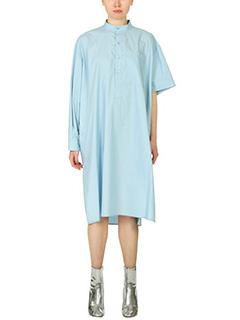 Balenciaga-Vestito Gandoura in cotone celeste