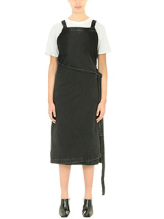 Balenciaga-black denim dress
