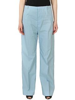 Balenciaga-Pantaloni  in cotone celeste