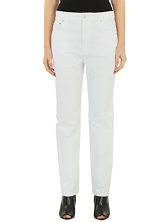 Balenciaga-white denim jeans