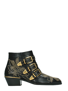 Chloé-Susanna black leather ankle boots