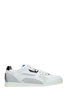 Dsquared 2-Sneakers Lucy in pelle e camoscio bianco
