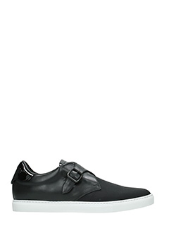 Dsquared 2-Sneakers  Tux in pelle e tessuto nero