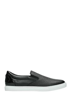 Dsquared 2-Sneakers  Slip On Tux in pelle nera