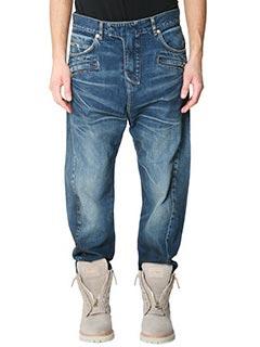 Balmain-Jeans Boyfriend in denim azzurro