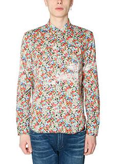 Maison Margiela-Camicia in cotone fantasia multicolor