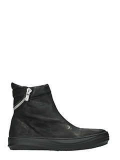 The last Conspiracy-Sneakers Tobias in pelle nera