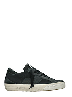 Philippe Model-Sneakers  Bercy in pelle e camoscio nero