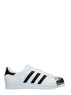 Adidas-Superstar metal white leather sneakers