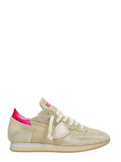 Philippe Model-Sneakers Tropez in pelle e camoscio beige