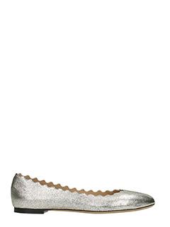 Chlo�-Lauren  grey leather ballet flats
