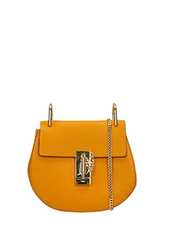 Chlo�-Borsa Nano Drew in pelle orange