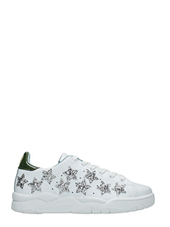 Chiara Ferragni-Roger white leather sneakers