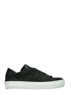 The last Conspiracy-Sneakers Joao in pelle e camoscio nero