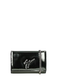 Giuseppe Zanotti-grey leather clutch