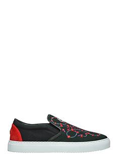 Marcelo Burlon-Sneakers Isabel in cotone nero rosso