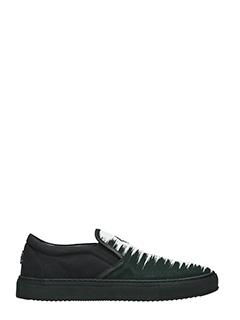 Marcelo Burlon-Sneakers Ada in cotone nero bainco