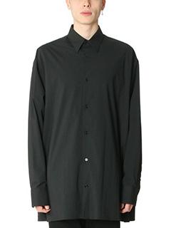 Raf Simons-Camicia Over in cotone nero