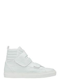 Raf Simons-Sneakers Higth in pelle bianca
