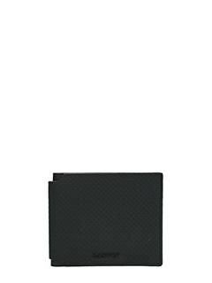 Lanvin-Portafoglio in pelle traforata nera
