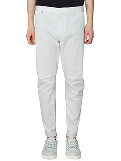 Lanvin-Pantaloni Biker Round Cut in cotone bianco