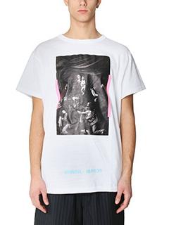 Off White-T-Shirt Caravaggio in cotone bianco