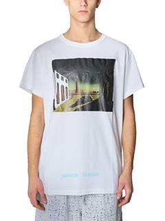 Off White-T-Shirt Silver Chirico in cotone bianco