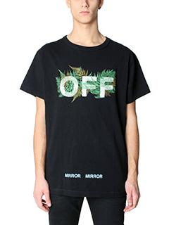 Off White-T-Shirt Fems in cotone nero