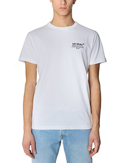Off White-T-Shirt Off SS  in cotone bianco