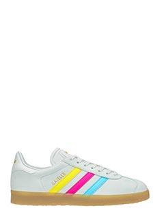 Adidas-Sneakers Gazelle in pelle e camoscio grigio