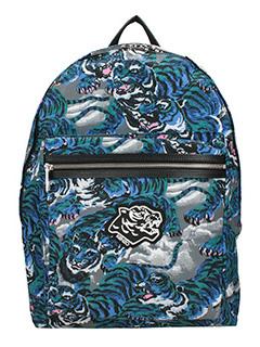 Kenzo-Flying tiger blue nylon backpack