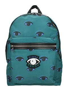 Kenzo-Zaino Eye All Over in nylon verde