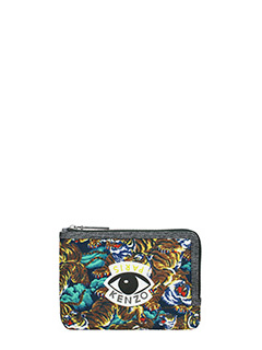 Kenzo-Pochette Multi icons Pouch Wallett in nylon multicolor