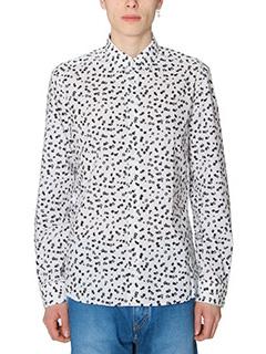 Kenzo-Camicia Post It  in cotone bianco