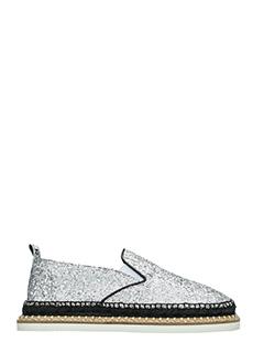 Kenzo-Georgia silver glitter espadrilles