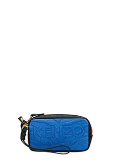 Kenzo-Kombo  blue canvas clutch