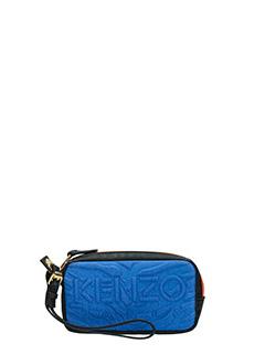 Kenzo-Pochette Kombo in tessuto blue denim
