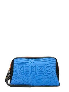 Kenzo-Pochette Kombo Washbag in neoprene blue nero