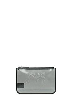 Kenzo-Pochette A4 Tiger Pouch in pvc nero bianco
