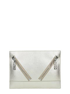 Kenzo-gold leather clutch