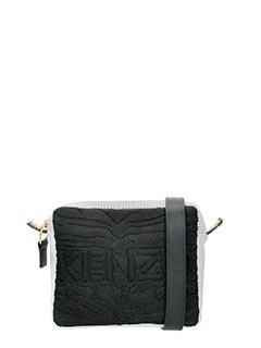 Kenzo-Borsa Konbo Camera Bag in nylon nero bianco