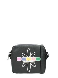 Kenzo-Nasa camera bag black leather bag