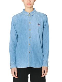 Kenzo-Denim Tiger blue denim shirt