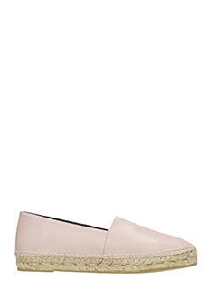 Kenzo-rose-pink leather espadrilles