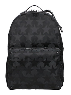 Valentino-black nylon backpack