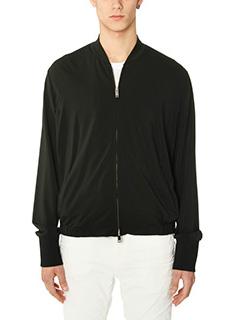 Valentino-black fabric outerwear