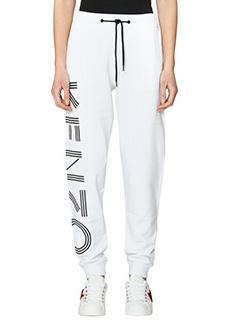 Kenzo-Pantaloni Kenzo Sweat Pant in cotone bianco