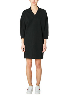 Kenzo-Kenzo Sport black cotton dress