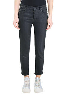 Rick Owens DRKSHDW-Jeans Berlin Cropped in cotone nero