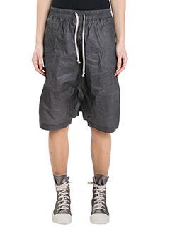 Rick Owens DRKSHDW-Shorts Boxer in cotone effetto spalmato nero